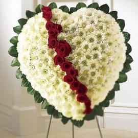Elegant Remembrance Standing Heart