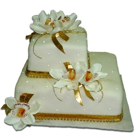Blooming Orchids Cake