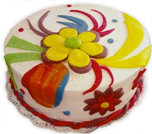 Colorful Cake of Happiness