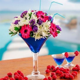 Cocktail in Blue