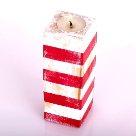 Red & White Candle