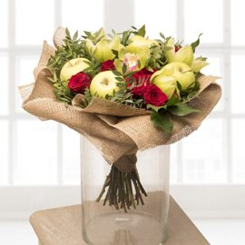 Red Roses & Apples Bouquet