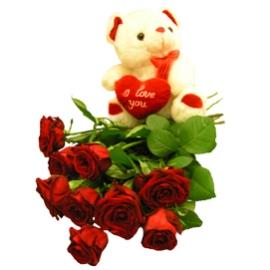 Bear & Hot Roses
