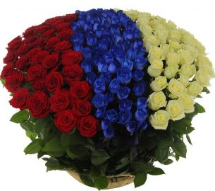 Цветочный флаг России