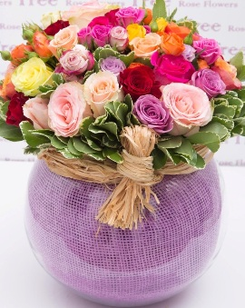 55 Roses in Stylish Vase