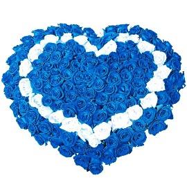 Блестательные эмоции из 125 роз