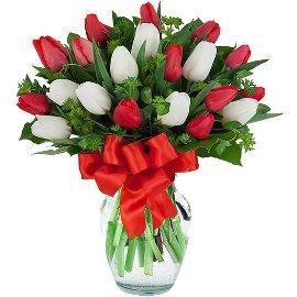 35 Exquisite Tulips in Vase