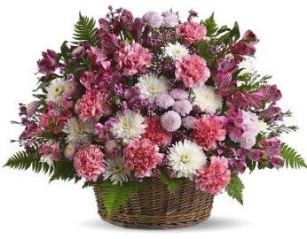 Ծաղիկներ զամբյուղում