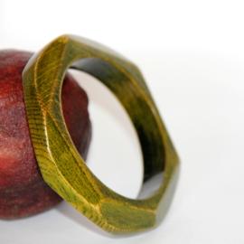 Green Wooden Bracelet