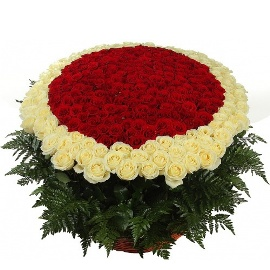 Роскошная Корзина из 501 Роз