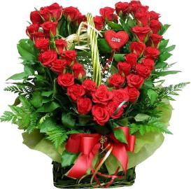 Elegant Heart-shaped Roses