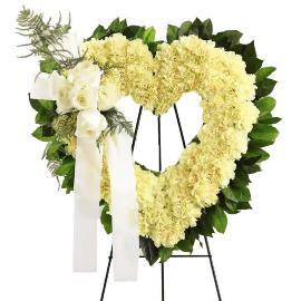 Open Heart Sympathy Wreath