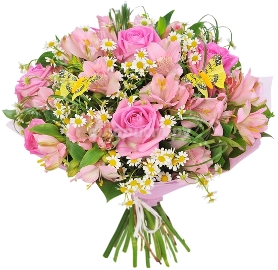 Pink Blooming Bouquet