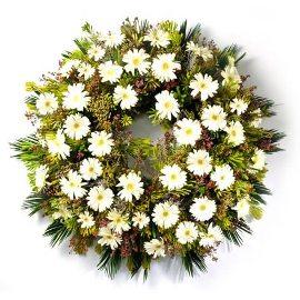 White Round Wreath
