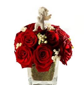 Ангел ьранитель и 21 розы