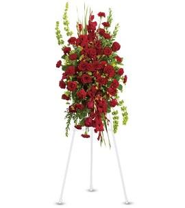 Red Sympathy Wreath