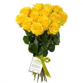 Ծաղկեփունջ «15 Դեղին Վարդեր»