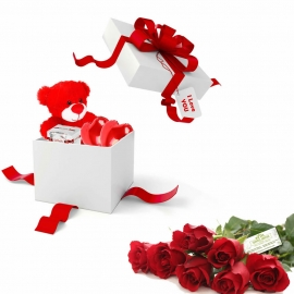 Collection  «A gift surprise and roses»