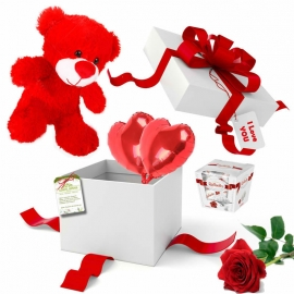 Collection «A gift surprise and a rose»
