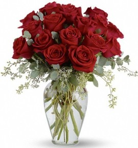 25 Classic Beauty Roses in Vase