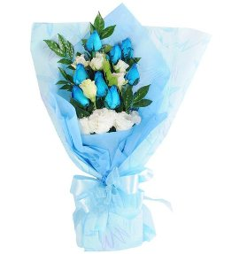 Cute Blue & White Roses