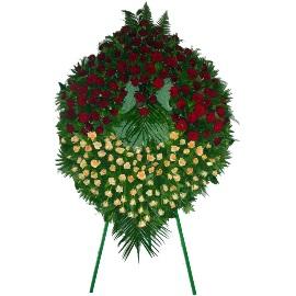 250 Վարդով սգո ծաղկեպսակ