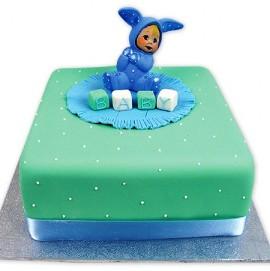 New born baby cake
