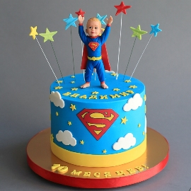 А little superhero cake