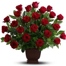 Sympathy Roses Basket