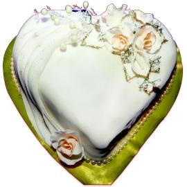 Տորթ սպիտակ սիրտ