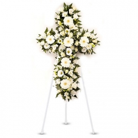 White Cross-Wreath